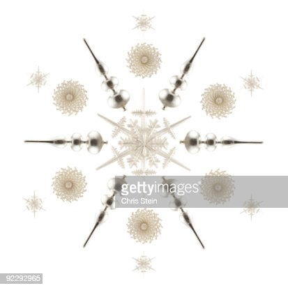 White and Silver Ornament Star : Stock Photo