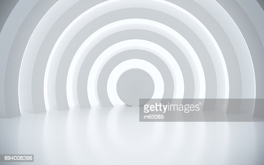 White architectural space with sunlight : Foto de stock