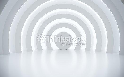 Espace architectural blanc avec soleil : Photo
