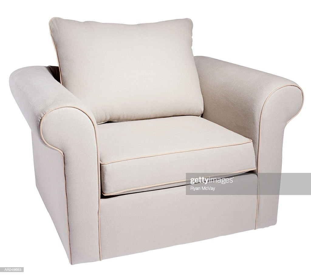 White Arm Chair : Stock Photo