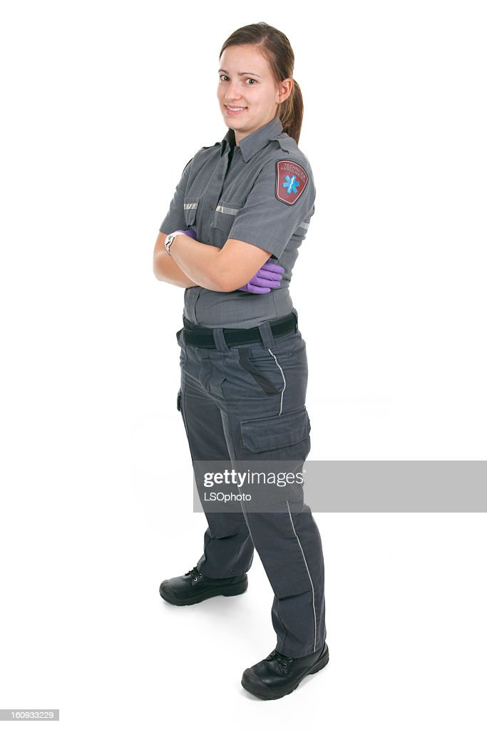 White Background - Woman Paramedic