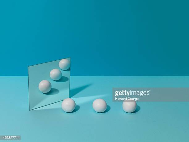 White Balls and Mirror