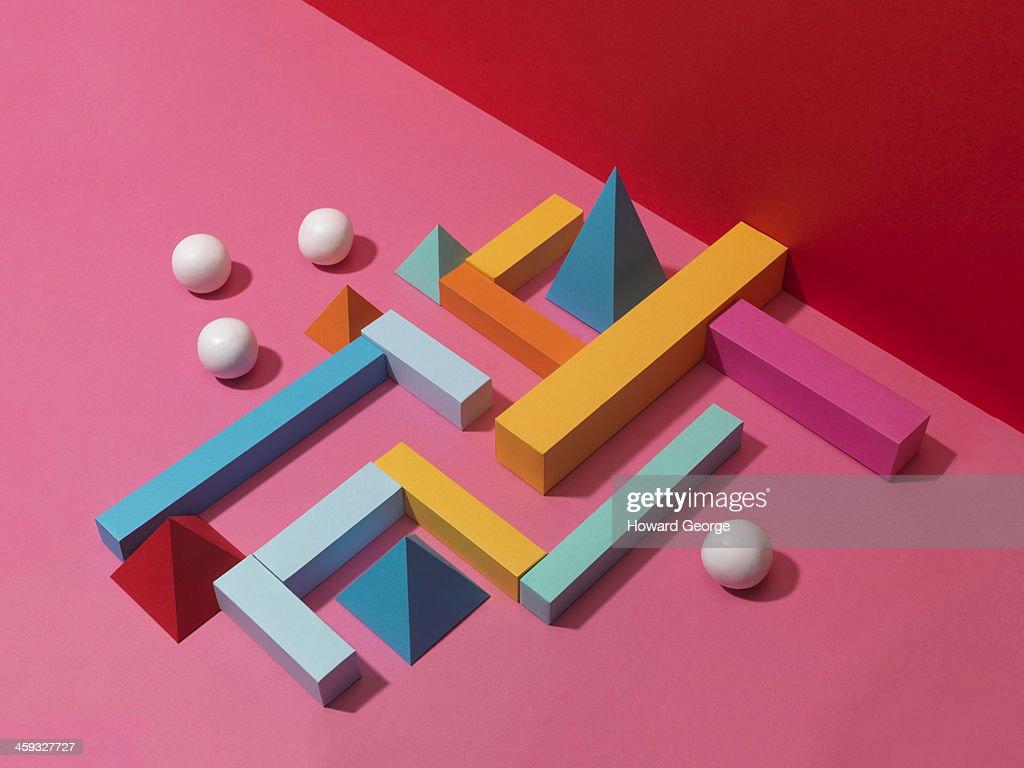 White Balls with Colour Shape Maze
