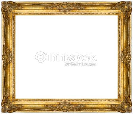 White Baroque Frame Isolated On White Background Stock Photo ...