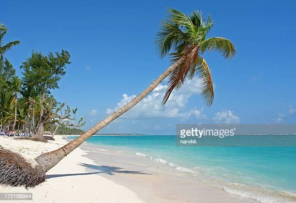 Playa de arenas blancas en República Dominicana