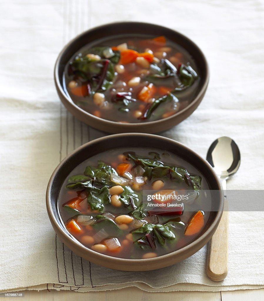 White Bean Soup : Stock Photo