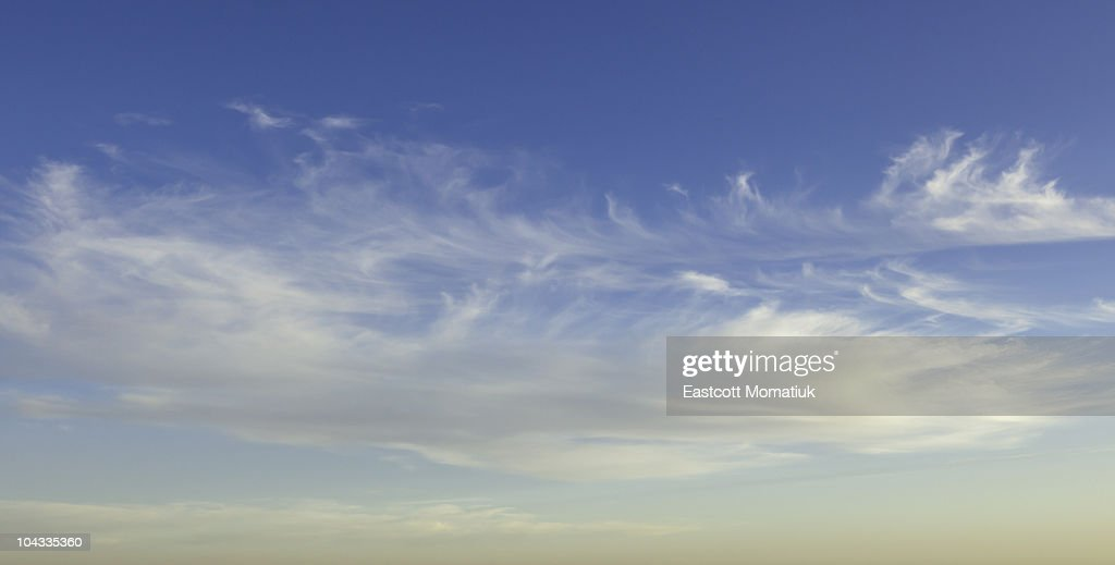 White beautiful clouds, New Mexico : Stock Photo