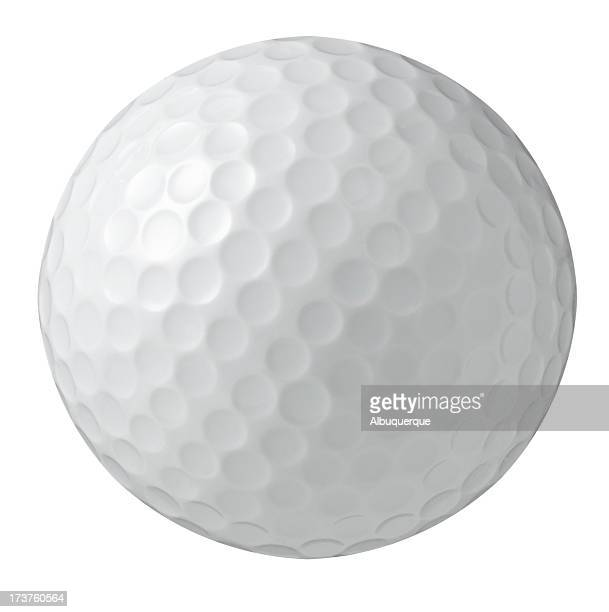 White Bg-Golf ball photographed on a isolated white background