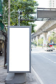 White Billboard blank for outdoor advertising poster
