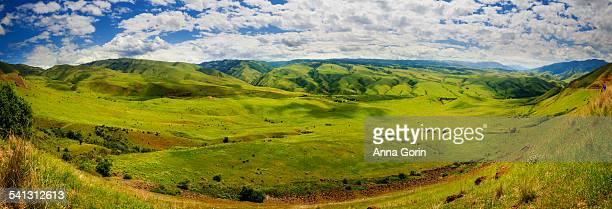 White Bird scenic panorama, green hills in spring
