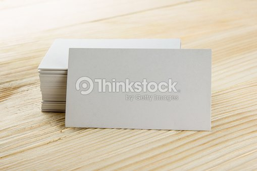 Blanc Vierge Carte De Visite Professionnelle Billet Passe Presenter Fond En Bois Photo