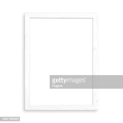 Marco blanco en blanco : Foto de stock
