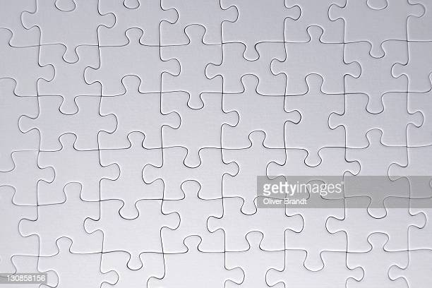White blank jigsaw puzzle