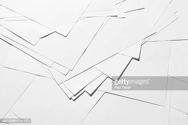 White blank paper, close-up (full frame)