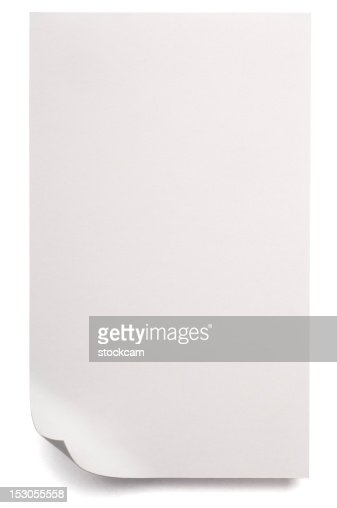 White blank sheet of Paper isolated on white : Stock Photo