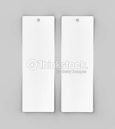 白空白タグまたはラベルとブックマーク テンプレート デザインのしおりと