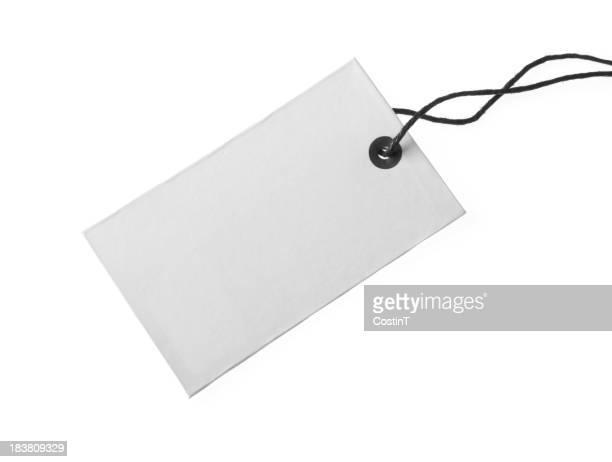 Etiqueta en blanco, blanco