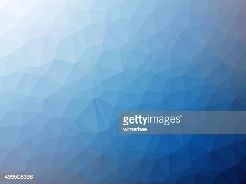 White blue gradient polygon shaped background : Stock Photo