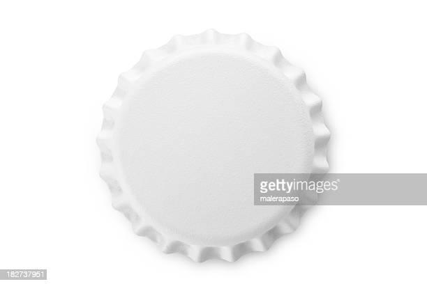 Weiße bottle cap