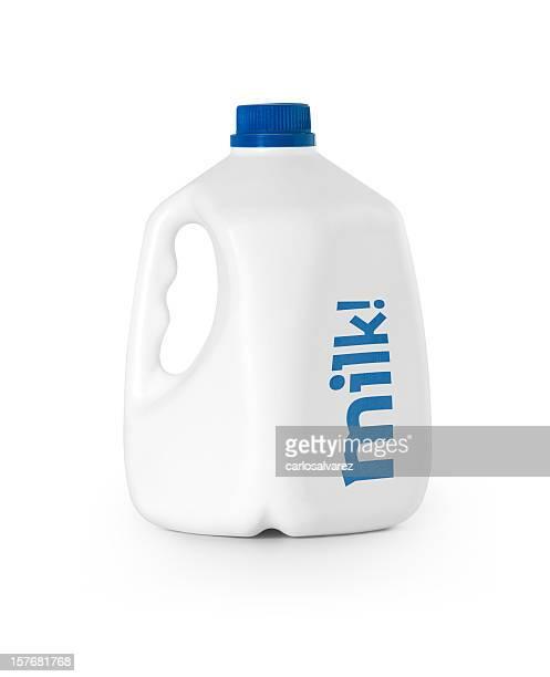 Bouteille de lait avec un Tracé de détourage
