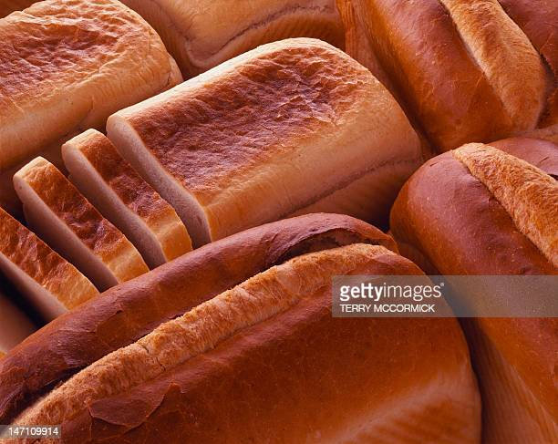 White bread loaves