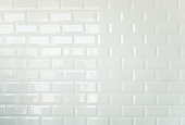 White brick tiles, vintage tiled wall background