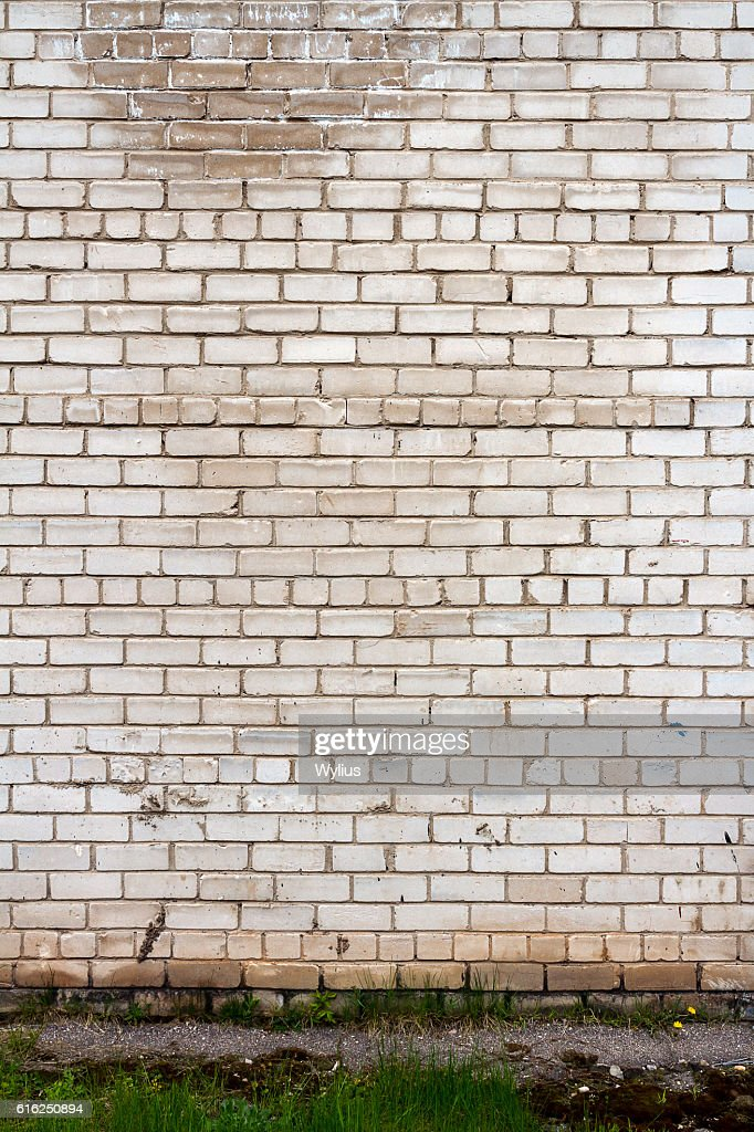 Pared de ladrillo blanco  : Foto de stock