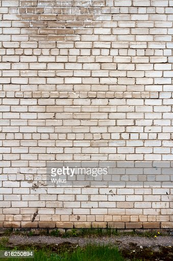 White brick wall : Stock Photo