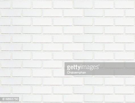 White brick wall. : Stock Photo