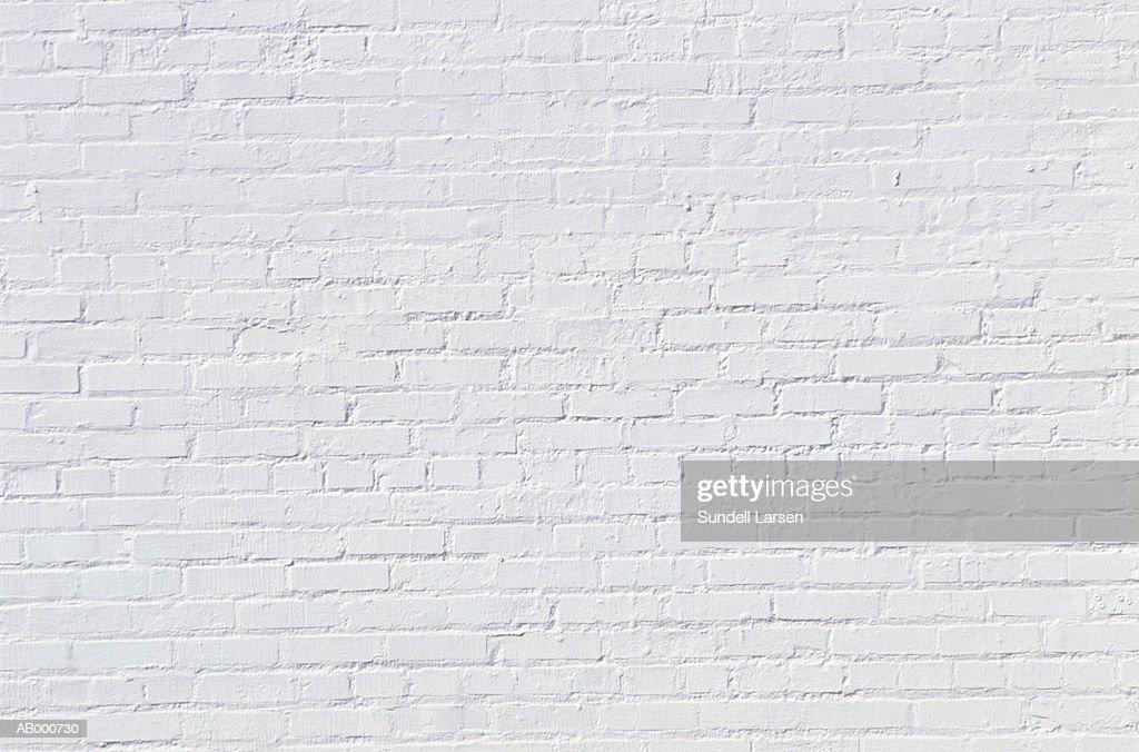 White Brick Wall : Stock Photo