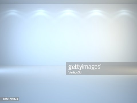 White, brightly lit 3D interior