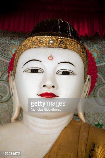 White Buddhist statue
