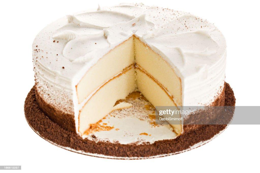 White Layered Cake Recipes: White Cake Slice Missing Stock Photo
