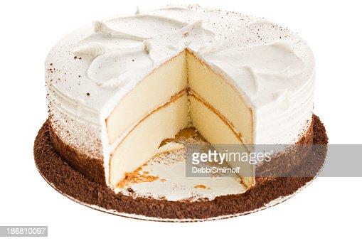 ホワイトのケーキのスライスが見つかりません。