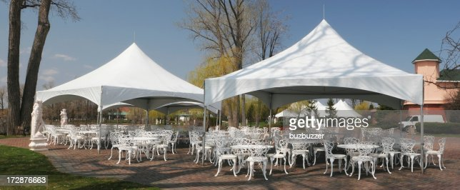 White celebration Tents and furnitures