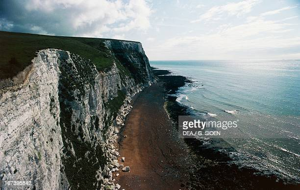 White chalk cliffs of Dover Kent County England United Kingdom