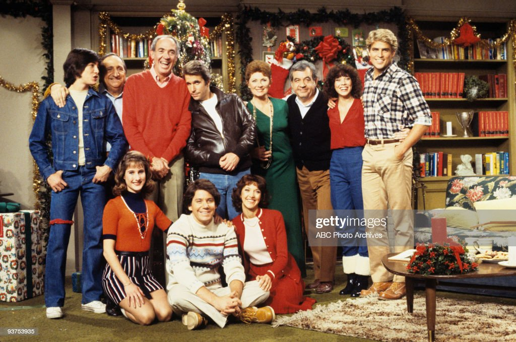 DAYS - 'White Christmas' 12/16/80 <a gi-track='captionPersonalityLinkClicked' href=/galleries/search?phrase=Scott+Baio&family=editorial&specificpeople=240729 ng-click='$event.stopPropagation()'>Scott Baio</a>, Al Molinaro, Jerry Paris, <a gi-track='captionPersonalityLinkClicked' href=/galleries/search?phrase=Henry+Winkler+-+Actor&family=editorial&specificpeople=206799 ng-click='$event.stopPropagation()'>Henry Winkler</a>, <a gi-track='captionPersonalityLinkClicked' href=/galleries/search?phrase=Marion+Ross&family=editorial&specificpeople=240317 ng-click='$event.stopPropagation()'>Marion Ross</a>, <a gi-track='captionPersonalityLinkClicked' href=/galleries/search?phrase=Tom+Bosley&family=editorial&specificpeople=667902 ng-click='$event.stopPropagation()'>Tom Bosley</a>, <a gi-track='captionPersonalityLinkClicked' href=/galleries/search?phrase=Erin+Moran&family=editorial&specificpeople=990581 ng-click='$event.stopPropagation()'>Erin Moran</a>, <a gi-track='captionPersonalityLinkClicked' href=/galleries/search?phrase=Ted+McGinley&family=editorial&specificpeople=210643 ng-click='$event.stopPropagation()'>Ted McGinley</a>, Cathy Silvers, <a gi-track='captionPersonalityLinkClicked' href=/galleries/search?phrase=Anson+Williams&family=editorial&specificpeople=799442 ng-click='$event.stopPropagation()'>Anson Williams</a>, Lynda Goodfriend