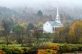 White Church in the Mist