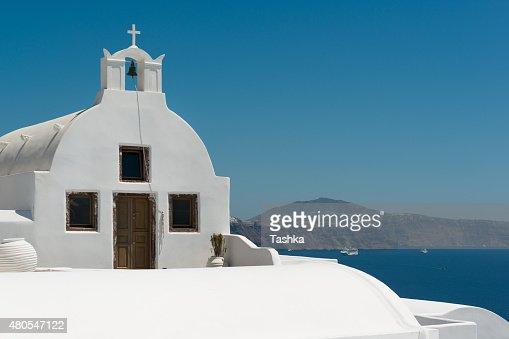 White iglesia : Foto de stock