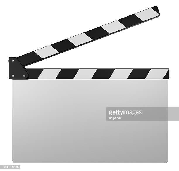 Weiße Filmklappe