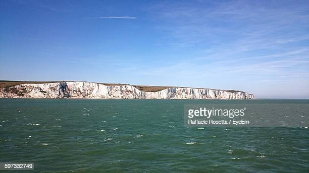 White Cliffs Of Dover Against Sky