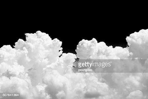 White cloud on black background : Stock Photo