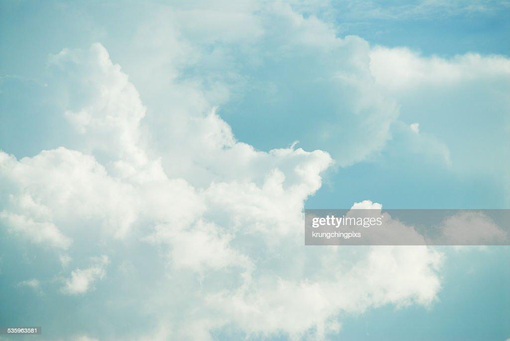 white cloud on blue sky : Stock Photo