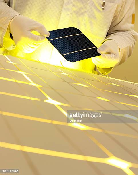 white collar worker with solar panel