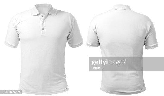 White Collared Shirt Design Template : Stock Photo