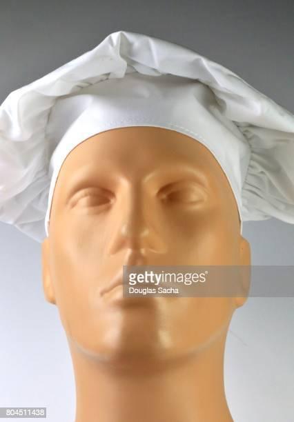 White colored Chef's Poplin Hat