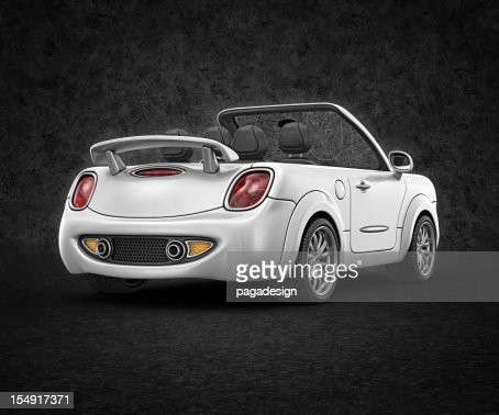 white convertible : Stock Photo
