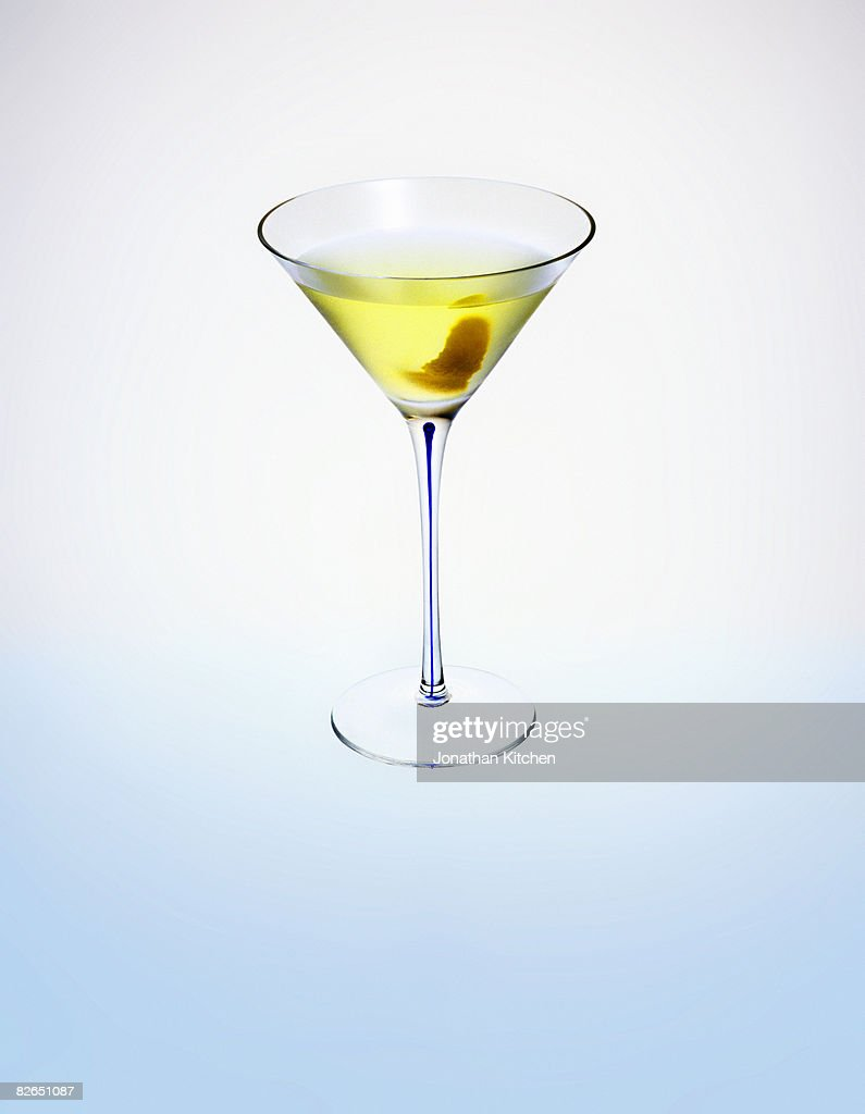 White Cosmopolitan Cocktail In A Martini Glass Stock Photo | Getty ...