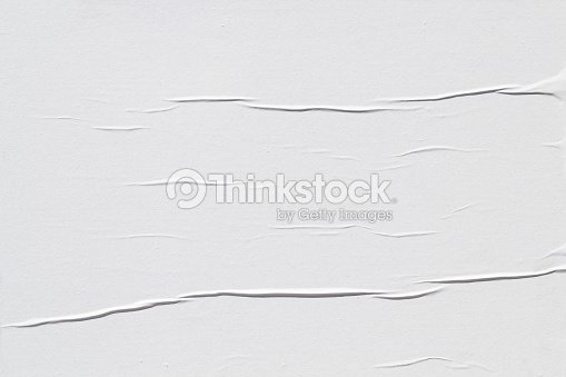 White creased poster texture : Stock Photo
