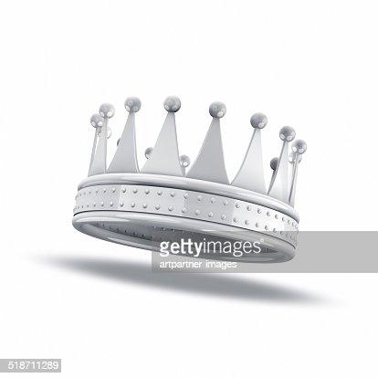 White crown on white background